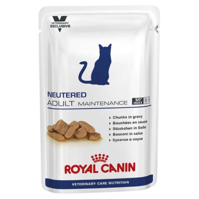 Royal Canin Vet Care Feline Neutered Adult Maintenance Pouch Wet Cat Food 100gm x 12 (ABB69)