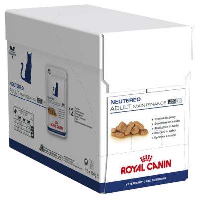 Royal Canin Vet Care Feline Neutered Adult Maintenance Pouch For Cat 100gm x 12 (ABB69)