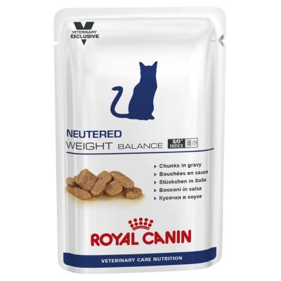 Royal Canin Vet Care Feline Neutered Weight Balance Pouch Wet Cat Food 100gm x 12 (ABB65)