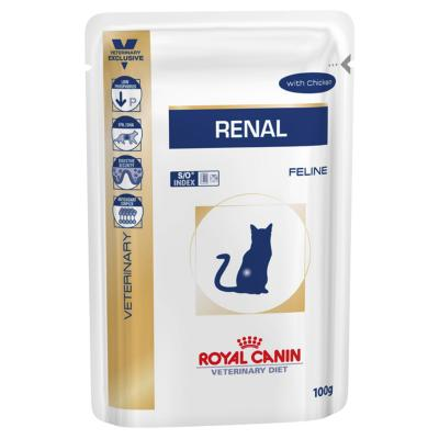 Royal Canin Veterinary Diet Feline Renal Chicken Pouch Wet Cat Food 85gm x 12 (AK05Y)