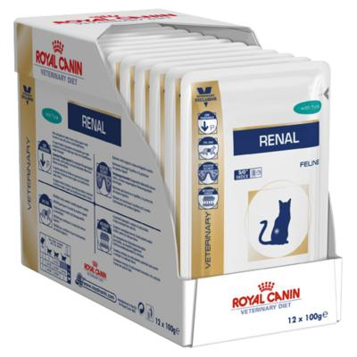 Royal Canin Veterinary Diet Feline Renal Tuna Pouch Wet Cat Food 85gm x 12 (AK06V)