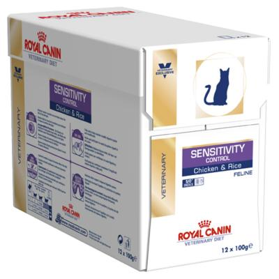 Royal Canin Veterinary Diet Feline Sensitivity Control Pouch For Cat 100gm x 12 (NH204)