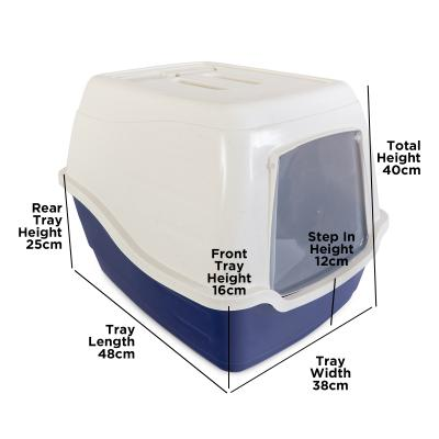 Trouble & Trix Litter Tray With Removable Hood And Scoop For Cats