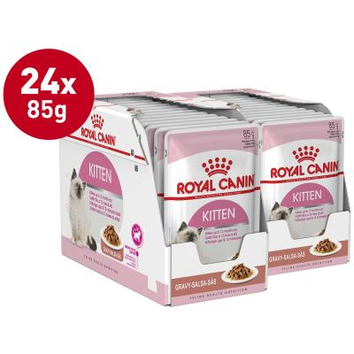 Royal Canin Instinctive In Gravy Kitten Pouches Wet Cat Food 85g x 24