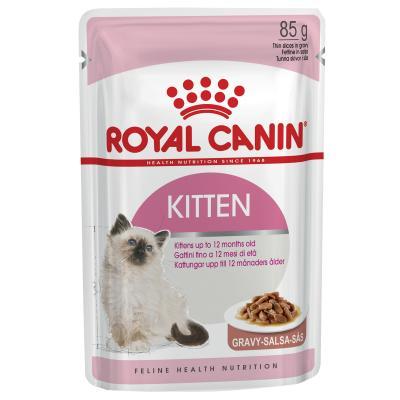 Royal Canin Instinctive In Gravy Kitten Pouches Wet Cat Food 85g x 48