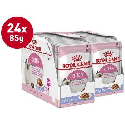 Royal Canin Instinctive in Jelly Kitten Pouches Wet Cat Food 85g x 24