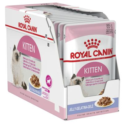 Royal Canin Instinctive in Jelly Kitten Pouches Wet Cat Food 85g x 12