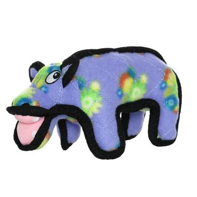 Tuffy Jr Zoo Hippo Tough Soft Toy For Dogs