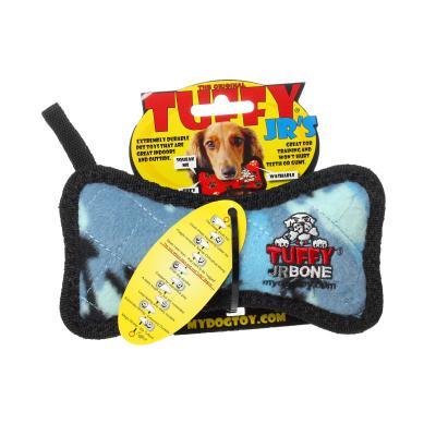 Tuffy Jr Bone Camo Blue Tough Soft Toy For Dogs