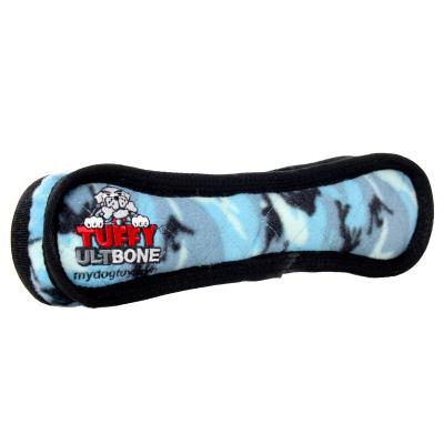 Tuffy Ultimate Bone Camo Blue Tough Soft Toy For Dogs