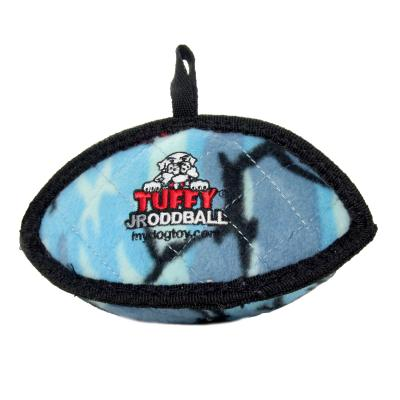 Tuffy Jr Odd Ball Camo Blue Tough Soft Toy For Dogs