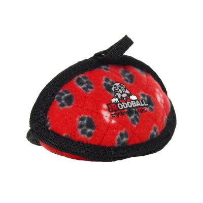 Tuffy Jr Odd Ball Red Paw Tough Soft Toy For Dogs