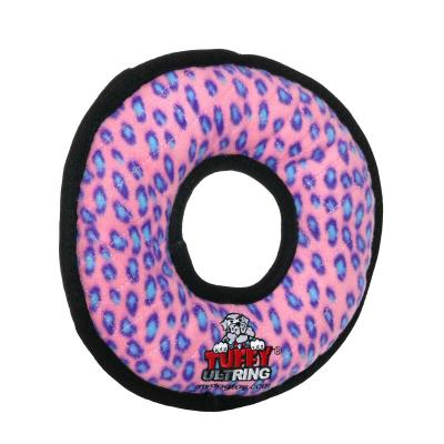 Tuffy Ultimate Ring Pink Leopard Tough Soft Toy For Dogs