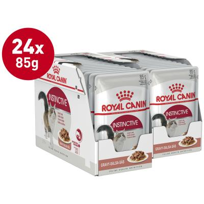 Royal Canin Instinctive In Gravy Adult Pouches Wet Cat Food 85g x 24
