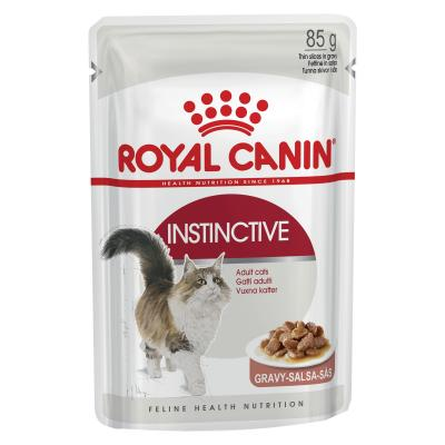 Royal Canin Instinctive In Gravy Adult Pouches Wet Cat Food 85g x 12