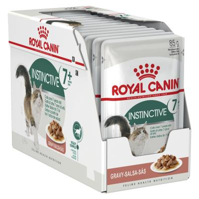 Royal Canin Instinctive In Gravy 7+ Years Adult/Mature Pouches Wet Cat Food 85g x 12