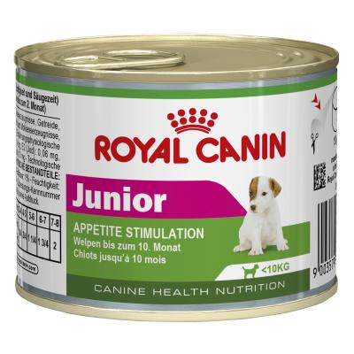 Royal Canin Mini Puppy/Junior Canned Wet Dog Food 12 x 195g