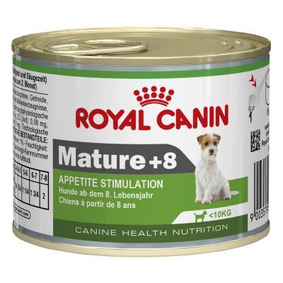 Royal Canin Mini 8+ Years Mature/Senior Canned Wet Dog Food 12 x 195g