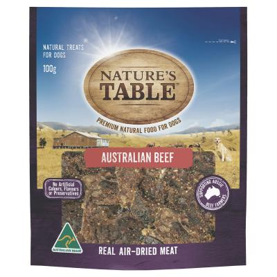 Natures Table Australian Beef Real Air-Dried Meat Treat For Dogs 100gm