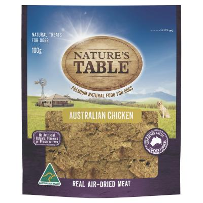 Natures Table Australian Chicken Real Air-Dried Meat Treat For Dogs 100gm