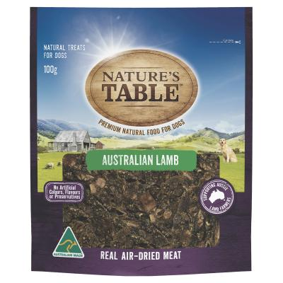 Natures Table Australian Lamb Real Air-Dried Meat Treat For Dogs 100gm