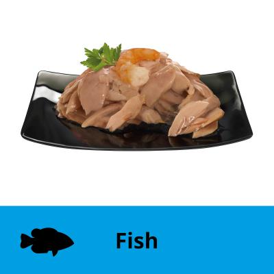 Dine Desire Tuna Fillets Prawn And Seafood Sauce Adult Canned Wet Cat Food 85gm x 6