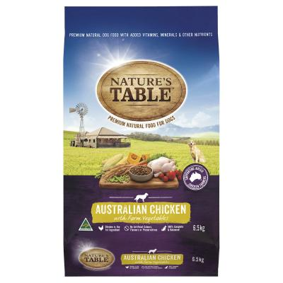 Natures Table Australian Chicken With Farm Vegetables Dry Dog Food 6.5kg