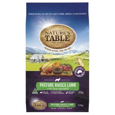 Natures Table Pasture Raised Lamb With Farm Vegetables Dry Dog Food 6.5kg
