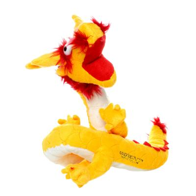 Mighty Dragon Yellow Orange Soft Toy For Dogs