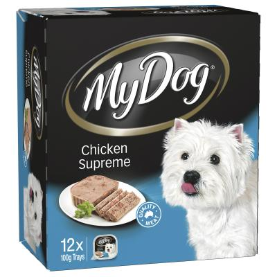 My Dog Chicken Supreme Adult Canned Wet Dog Food 100gm x 12
