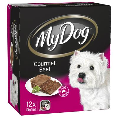 My Dog Gourmet Beef Adult Canned Wet Dog Food 100gm x 12