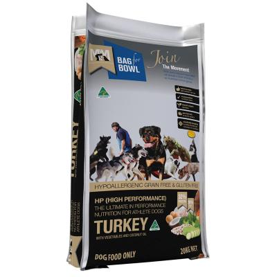 Meals For Mutts MfM Grain Free High Performance Turkey Chickpeas Vegetables Adult Dry Dog Food 20kg
