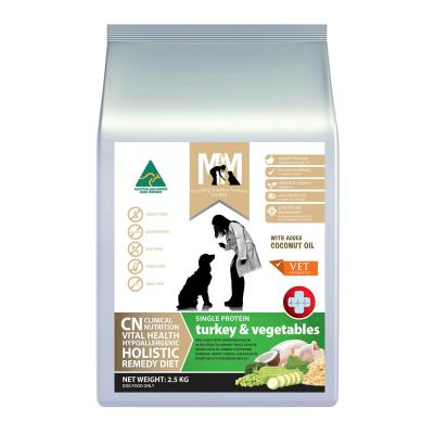 Meals For Mutts MfM CN Clinical Nutrition Hypoallergenic Single Protein Turkey And Vegetable Dry Dog Food 2.5kg