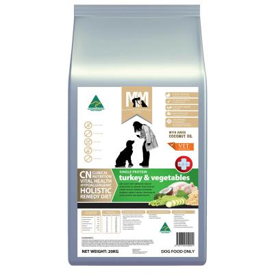 Meals For Mutts MfM CN Clinical Nutrition Hypoallergenic Single Protein Turkey And Vegetable Dry Dog Food 20kg