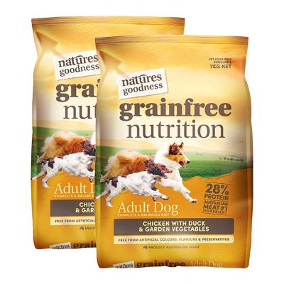 Natures Goodness Grain Free Chicken Duck And Garden Vegetables Dry Dog Food 14kg