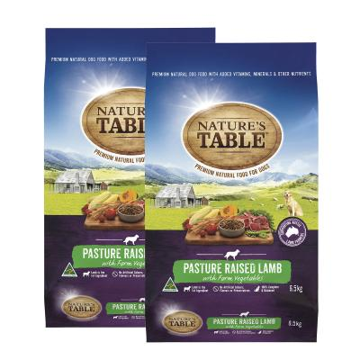 Natures Table Pasture Raised Lamb With Farm Vegetables Dry Dog Food 13kg