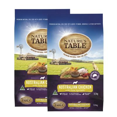 Natures Table Australian Chicken With Farm Vegetables Dry Dog Food 13kg
