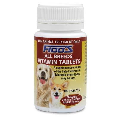 Fidos Allbreed Chewable Vitamin And Mineral Tablets For Dogs  x 100