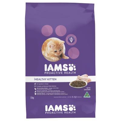 Iams Chicken Kitten Dry Cat Food 8kg