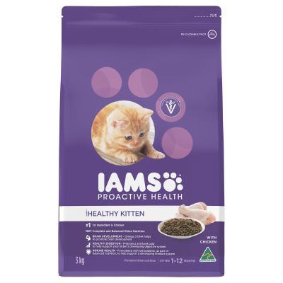 Iams Chicken Kitten Dry Cat Food 3kg