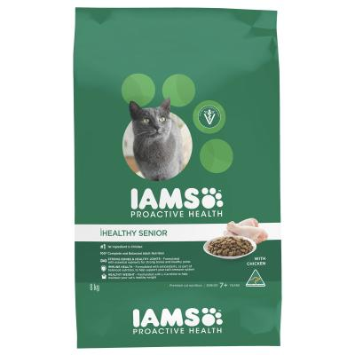 Iams Chicken Mature Senior Dry Cat Food 8kg