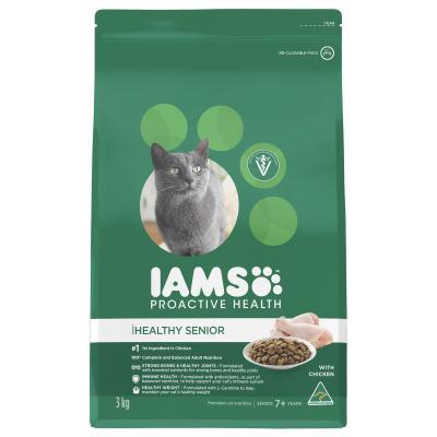 Iams Chicken Mature Senior Dry Cat Food 3kg