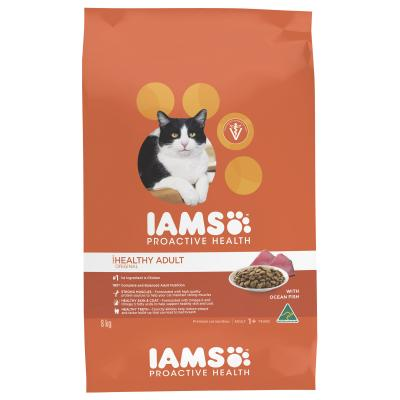 Iams Ocean Fish And Chicken Adult Dry Cat Food 8kg