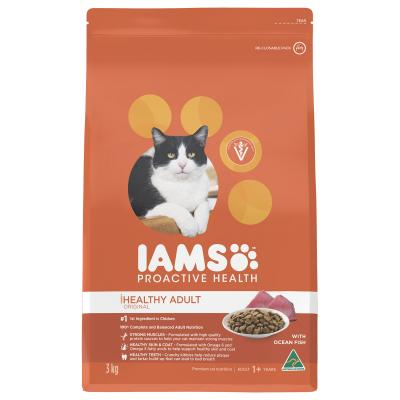 Iams Ocean Fish And Chicken Adult Dry Cat Food 3kg