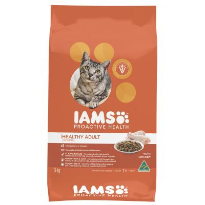 Iams Chicken Adult Dry Cat Food 15kg NEW FORMULA