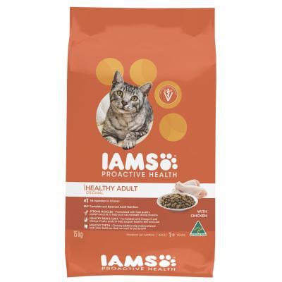 Iams Chicken Adult Dry Cat Food 15kg NEW FORMULA