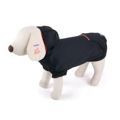 Kazoo Active Hoodie Dog Coat Black And Peach Large 59.5cm