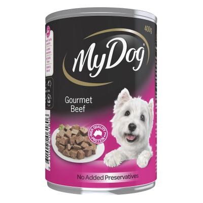 My Dog Gourmet Multipack Meat Selection Beef Country Lamb Tender Chicken Prime Beef Adult Canned Wet Dog Food 400gm x 12