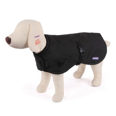 Kazoo Reflective Soft Nylon Dog Coat Black XXSmall 27cm