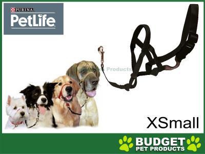 Purina Petlife Halti Head Collar Black XSmall Size 0 For Dogs